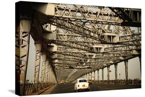 Howrah Bridge, Kolkata, West Bengal, India, Asia-Bhaskar Krishnamurthy-Stretched Canvas Print