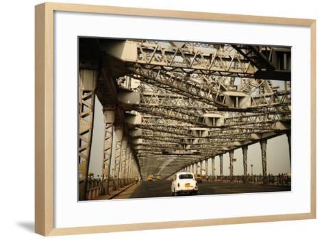 Howrah Bridge, Kolkata, West Bengal, India, Asia-Bhaskar Krishnamurthy-Framed Art Print