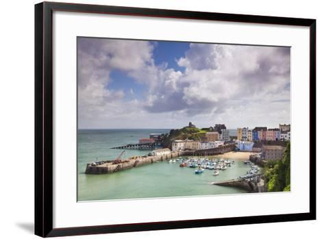 Tenby Harbour, Pembrokeshire, West Wales, Wales, United Kingdom, Europe-Billy Stock-Framed Art Print