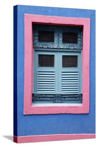 Detail of an Old Colonial House, Olinda, Pernambuco, Brazil, South America-Yadid Levy-Stretched Canvas Print