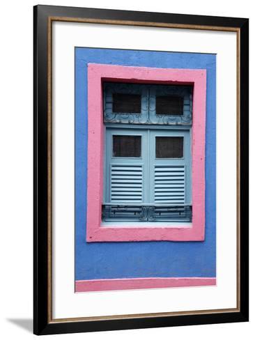 Detail of an Old Colonial House, Olinda, Pernambuco, Brazil, South America-Yadid Levy-Framed Art Print