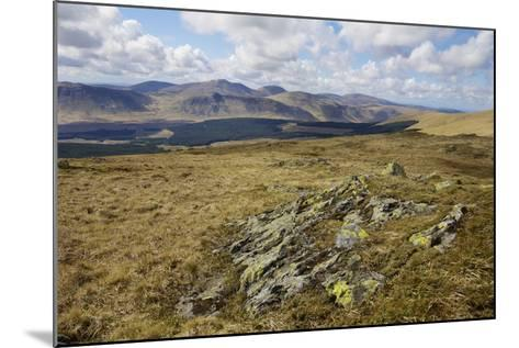Galloway Hills from Rhinns of Kells, Dumfries and Galloway, Scotland, United Kingdom, Europe-Gary Cook-Mounted Photographic Print