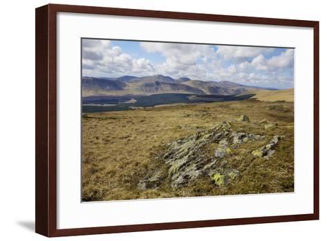 Galloway Hills from Rhinns of Kells, Dumfries and Galloway, Scotland, United Kingdom, Europe-Gary Cook-Framed Art Print