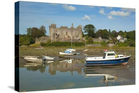 Laugharne Castle, Carmarthenshire, Wales, United Kingdom, Europe-Billy Stock-Stretched Canvas Print