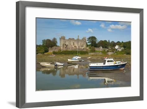Laugharne Castle, Carmarthenshire, Wales, United Kingdom, Europe-Billy Stock-Framed Art Print