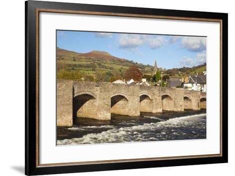 Bridge over River Usk, Crickhowell, Powys, Wales, United Kingdom, Europe-Billy Stock-Framed Art Print