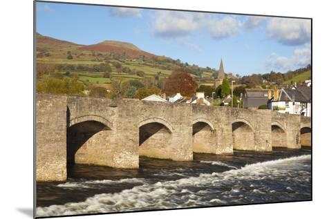 Bridge over River Usk, Crickhowell, Powys, Wales, United Kingdom, Europe-Billy Stock-Mounted Photographic Print