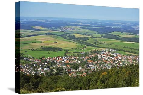 View of Denkingen and Baar from Dreifaltigkeitsberg, Baden-Wurttemberg, Germany, Europe-Jochen Schlenker-Stretched Canvas Print