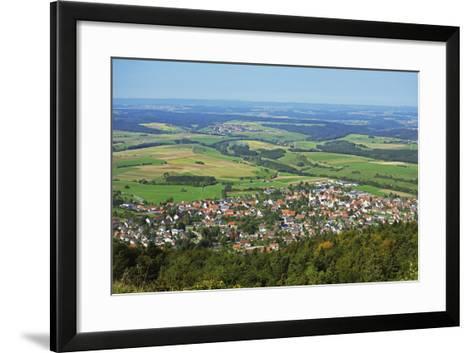 View of Denkingen and Baar from Dreifaltigkeitsberg, Baden-Wurttemberg, Germany, Europe-Jochen Schlenker-Framed Art Print
