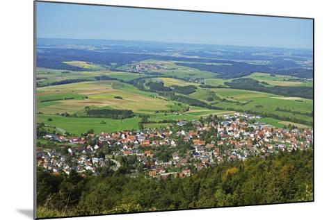 View of Denkingen and Baar from Dreifaltigkeitsberg, Baden-Wurttemberg, Germany, Europe-Jochen Schlenker-Mounted Photographic Print