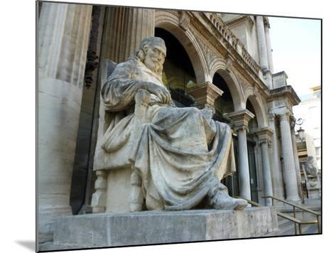 Statue of Playwright Moliere Outside Theatre, Old City, Avignon, Rhone Valley, Provence, France-David Lomax-Mounted Photographic Print