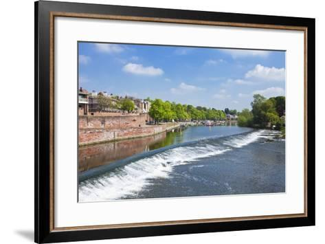 Chester Weir Crossing the River Dee at Chester, Cheshire, England, United Kingdom, Europe-Neale Clark-Framed Art Print