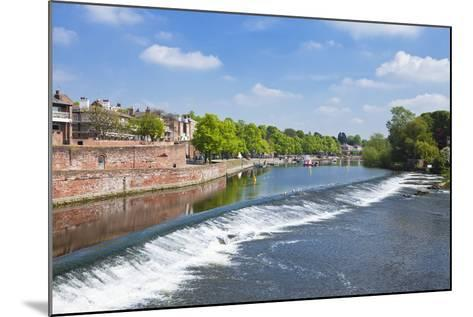 Chester Weir Crossing the River Dee at Chester, Cheshire, England, United Kingdom, Europe-Neale Clark-Mounted Photographic Print