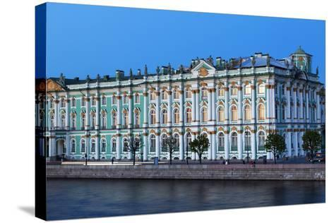 The Winter Palace in Evening Light, UNESCO World Heritage Site, St. Petersburg, Russia, Europe-Martin Child-Stretched Canvas Print