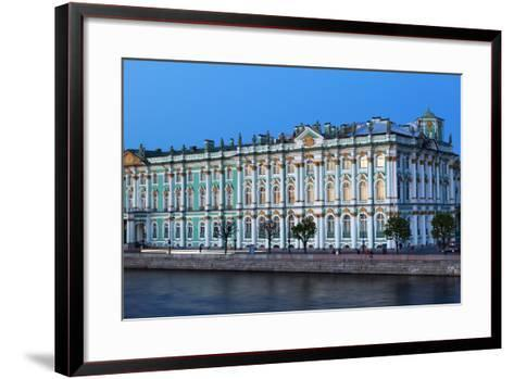 The Winter Palace in Evening Light, UNESCO World Heritage Site, St. Petersburg, Russia, Europe-Martin Child-Framed Art Print