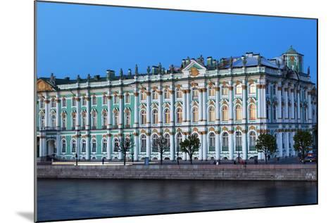 The Winter Palace in Evening Light, UNESCO World Heritage Site, St. Petersburg, Russia, Europe-Martin Child-Mounted Photographic Print
