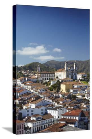 View of Ouro Preto, UNESCO World Heritage Site, Minas Gerais, Brazil, South America-Ian Trower-Stretched Canvas Print