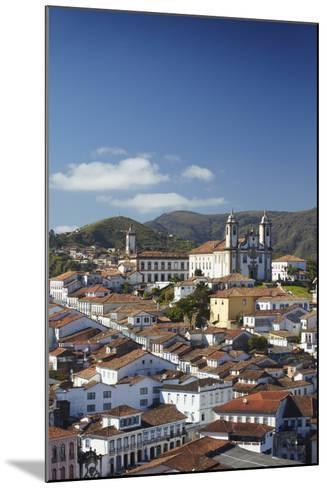 View of Ouro Preto, UNESCO World Heritage Site, Minas Gerais, Brazil, South America-Ian Trower-Mounted Photographic Print