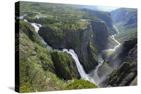 Voringfoss Waterfall, Near Eidfjord, Hordaland, Norway, Scandinavia, Europe-Gary Cook-Stretched Canvas Print