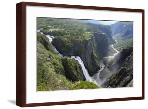 Voringfoss Waterfall, Near Eidfjord, Hordaland, Norway, Scandinavia, Europe-Gary Cook-Framed Art Print