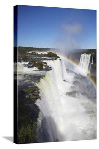 Garganta do Diablo Falls at Iguacu Falls, Iguacu Nat'l Pk, UNESCO Site, Parana, Brazil-Ian Trower-Stretched Canvas Print