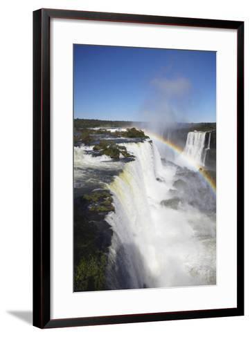 Garganta do Diablo Falls at Iguacu Falls, Iguacu Nat'l Pk, UNESCO Site, Parana, Brazil-Ian Trower-Framed Art Print