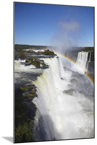 Garganta do Diablo Falls at Iguacu Falls, Iguacu Nat'l Pk, UNESCO Site, Parana, Brazil-Ian Trower-Mounted Photographic Print