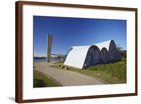 Church of St. Francis of Assisi, Pampulha Lake, Pampulha, Belo Horizonte, Minas Gerais, Brazil-Ian Trower-Framed Art Print