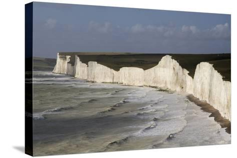 Seven Sisters from Birling Gap, South Downs National Park, East Sussex, England, United Kingdom-Rolf Richardson-Stretched Canvas Print