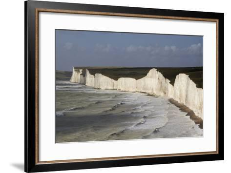 Seven Sisters from Birling Gap, South Downs National Park, East Sussex, England, United Kingdom-Rolf Richardson-Framed Art Print