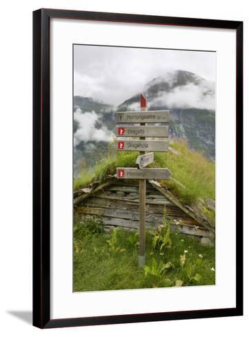 Homlongsaetra Mountain Farm, Geirangerfjorden Near Geiranger, UNESCO Site, More Og Romsdal, Norway-Gary Cook-Framed Art Print