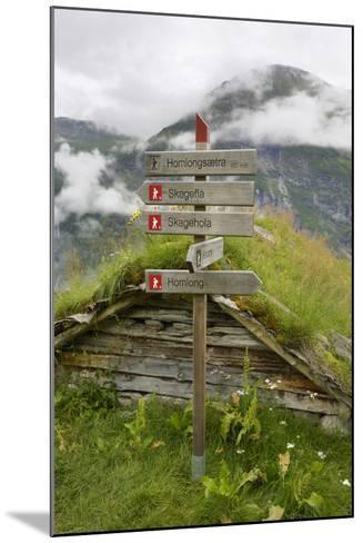 Homlongsaetra Mountain Farm, Geirangerfjorden Near Geiranger, UNESCO Site, More Og Romsdal, Norway-Gary Cook-Mounted Photographic Print