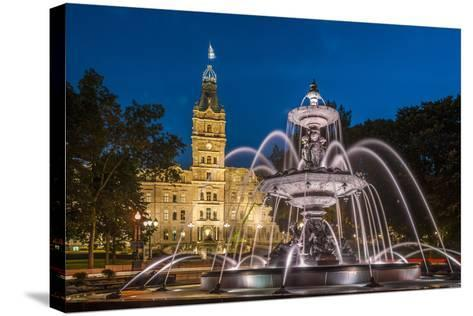 Fontaine de Tourny, Quebec City, Province of Quebec, Canada, North America-Michael Snell-Stretched Canvas Print