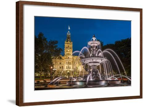Fontaine de Tourny, Quebec City, Province of Quebec, Canada, North America-Michael Snell-Framed Art Print