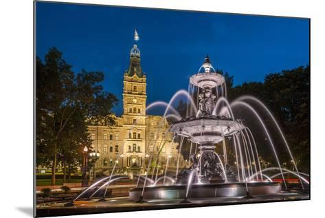 Fontaine de Tourny, Quebec City, Province of Quebec, Canada, North America-Michael Snell-Mounted Photographic Print
