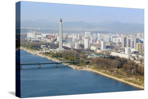 City Skyline and the Juche Tower, Pyongyang, Democratic People's Republic of Korea (DPRK), N. Korea-Gavin Hellier-Stretched Canvas Print