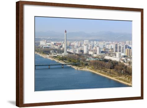 City Skyline and the Juche Tower, Pyongyang, Democratic People's Republic of Korea (DPRK), N. Korea-Gavin Hellier-Framed Art Print