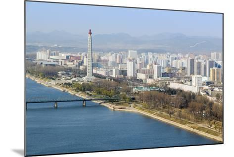 City Skyline and the Juche Tower, Pyongyang, Democratic People's Republic of Korea (DPRK), N. Korea-Gavin Hellier-Mounted Photographic Print