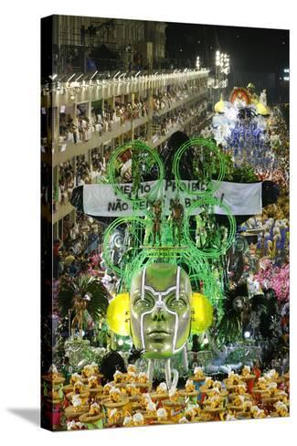 Carnival Parade at the Sambodrome, Rio de Janeiro, Brazil, South America-Yadid Levy-Stretched Canvas Print