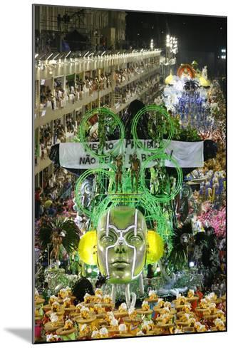Carnival Parade at the Sambodrome, Rio de Janeiro, Brazil, South America-Yadid Levy-Mounted Photographic Print
