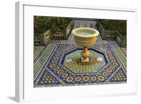 Fountain, Palais de la Bahia, Medina, Marrakesh, Morocco, North Africa, Africa-Jochen Schlenker-Framed Art Print