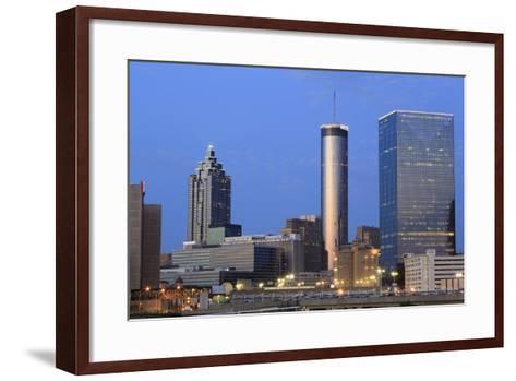 City Skyline at Dusk, Atlanta, Georgia, United States of America, North America-Richard Cummins-Framed Art Print