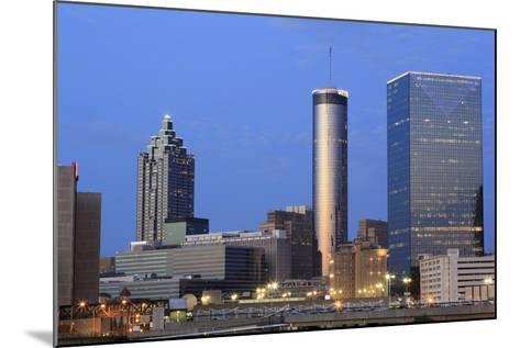City Skyline at Dusk, Atlanta, Georgia, United States of America, North America-Richard Cummins-Mounted Photographic Print