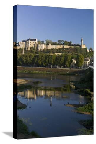 Chateau and River Vienne, Chinon, Indre-Et-Loire, Touraine, France, Europe-Rob Cousins-Stretched Canvas Print
