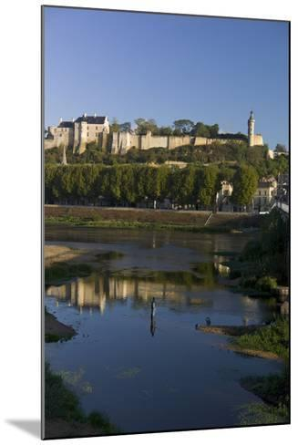 Chateau and River Vienne, Chinon, Indre-Et-Loire, Touraine, France, Europe-Rob Cousins-Mounted Photographic Print