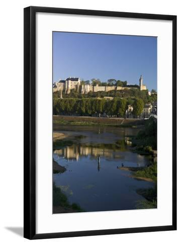 Chateau and River Vienne, Chinon, Indre-Et-Loire, Touraine, France, Europe-Rob Cousins-Framed Art Print