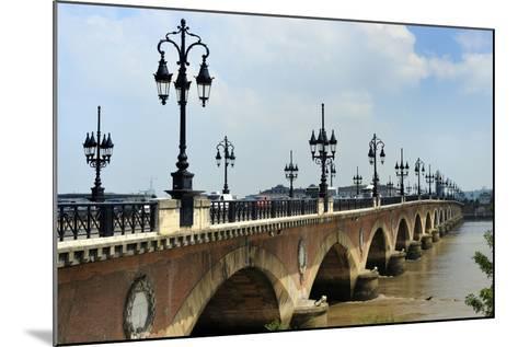 Pont de Pierre on the Garonne River, Bordeaux, UNESCO Site, Gironde, Aquitaine, France-Peter Richardson-Mounted Photographic Print