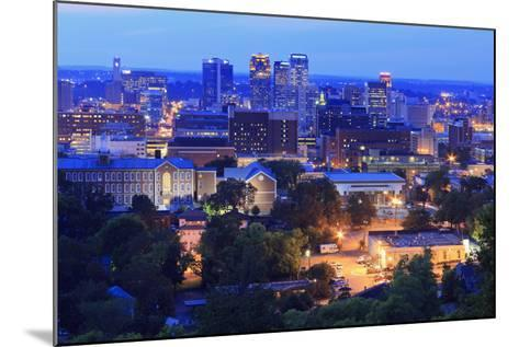 Birmingham Skyline at Twilight, Birmingham, Alabama, United States of America, North America-Richard Cummins-Mounted Photographic Print