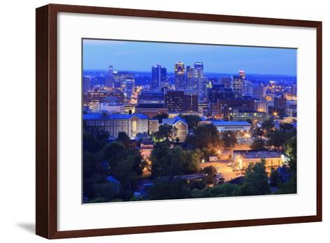 Birmingham Skyline at Twilight, Birmingham, Alabama, United States of America, North America-Richard Cummins-Framed Art Print