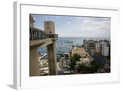 Elevador Lacerda, Salvador (Salvador de Bahia), Bahia, Brazil, South America-Yadid Levy-Framed Art Print